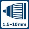 Mâm cặp khóa tự động 1,5 - 10,0 mm