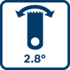 Biên độ dao động 2.8°