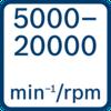 Tốc độ không tải 5000 - 20000 min-1/rpm
