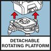 Bàn quay tháo dời được Giá đỡ mini xoay được giúp định vị chính xác hơn