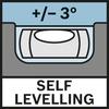 Tự lấy thăng bằng 3° Tự lấy thăng bằng ± 3°