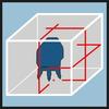 Gói sơ đồ laze Căn chỉnh chính xác nhờ một tia laze ngang và hai tia laze dọc