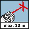 Khoảng hoạt động trong chế độ chéo Phạm vi đo lên tới 10 m