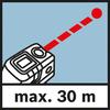 Khoảng làm việc trong chế độ điểm Phạm vi đo lên tới 30 m