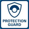 Bảo vệ người dùng vượt trội nhờ tấm chắn bảo vệ chống xoay - đứng vững, ngay cả khi đĩa vỡ