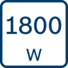 Công suất đầu vào định mức 1800 W