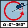 Cảm biến độ nghiêng 360° Cảm biến mặt nghiêng 360° được tích hợp