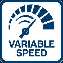 Kiểm soát dễ dàng và chính xác RPM nhờ tốc độ tùy biến