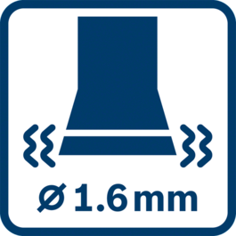 Giá trị rung phát ra ah ∅ 1.6mm