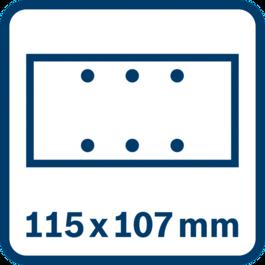 Tấm mài 115 x 107 mm, 6 lỗ