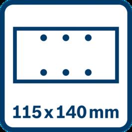 Tấm mài 115 x 140 mm, 6 lỗ