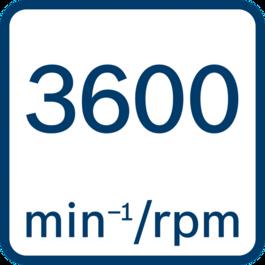 Tốc độ không tải 3600 min-1/rpm