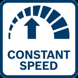 Các kết quả làm việc tốt nhất với tốc độ ổn định nhờ điều chỉnh tốc độ điện tử - ngay cả khi chịu tải