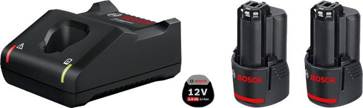 2 pin GBA 12V 2.0Ah + GAL 12V-40 Professional